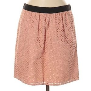 Ann Taylor Loft Lace Pink Casual Skirt